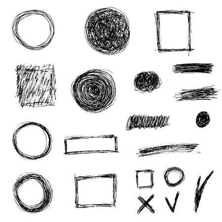 Set doodle elementen