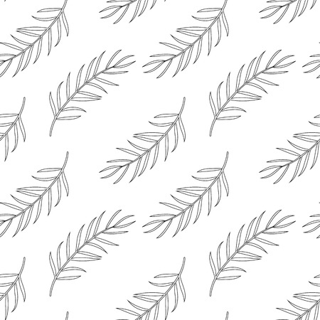 Seamless Pattern With Palm Leaf Coloring Page For Adults Royalty Free Cliparts Vectors And Stock Illustration Image 86312325