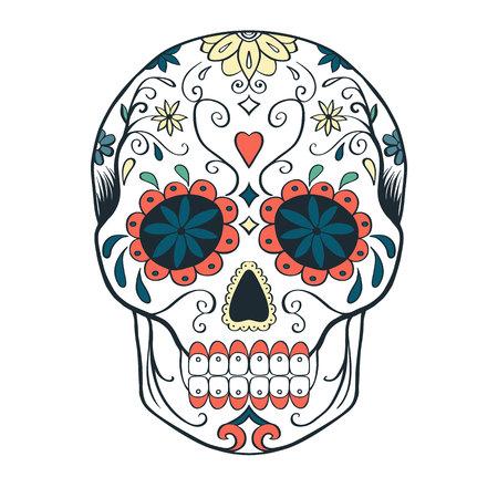 Sugar skull, vector illustration.
