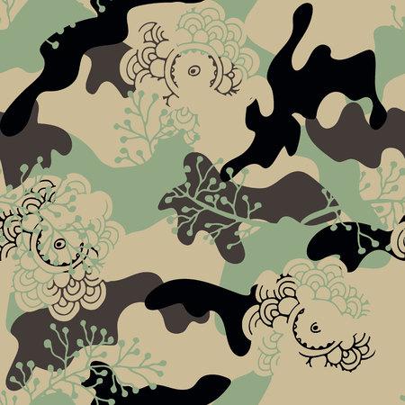 trendy khaki seamless pattern