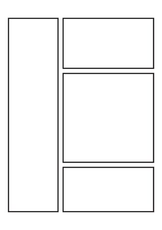Manga Storyboard Layout template for Drawing Stories