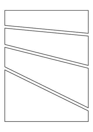 manga storyboard layout template for create the comic book 일러스트