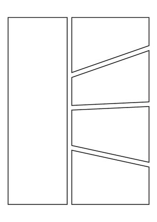 manga storyboard layout template for create the comic book Illustration