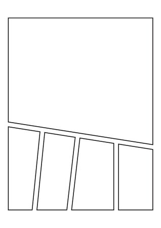 Vector Blank Comic Book storyboard for sketches