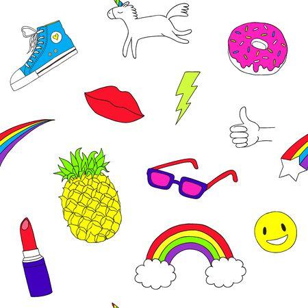Modern pop art sticker