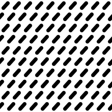 Black-white seamless pattern with diagonal strokes. Abstract geometric background