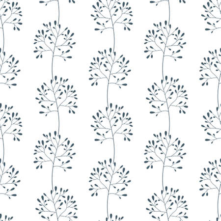 seamless pattern with twigs on white. Design for textile, fabric, wrapping paper.