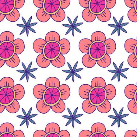 Floral Seamless Pattern. Modern botanical background