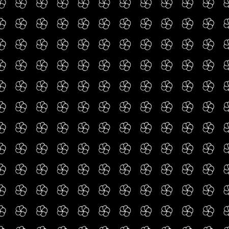 Black and white seamless pattern with doodle small flowers. Seamless pattern for fabric design, digital paper, wrapping paper