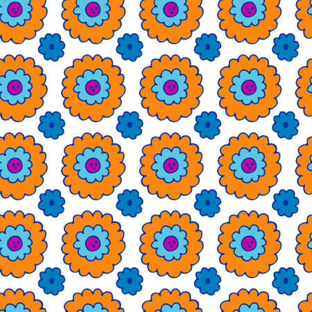 Abstract Floral Seamless Pattern. Colorful floral seamless pattern 向量圖像