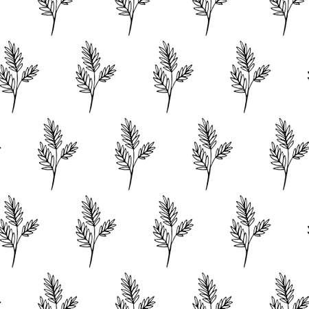 Floral background Hand Drawn Botanical Seamless pattern