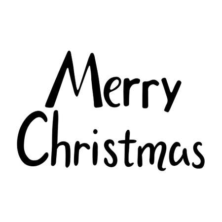 Merry christmas hand drawn lettering. lettering - Merry Christmas