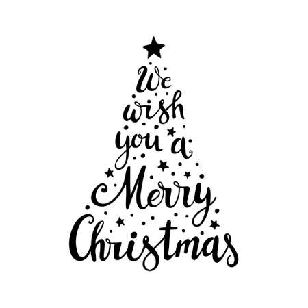 Hand drawn Christmas Lettering. We wish you a Marry Christmas 일러스트