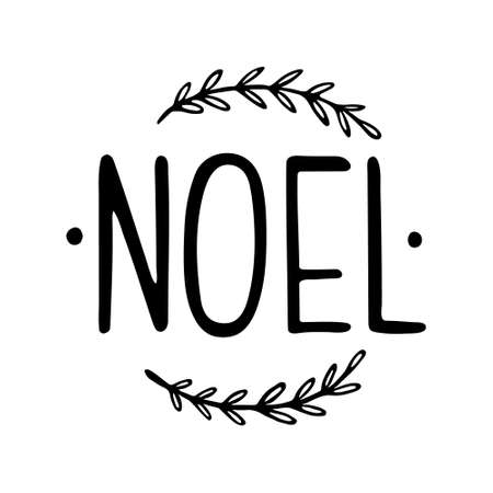 Hand drawn lettering to winter holiday. Hand drawn Christmas Lettering. NOEL. Hand lettering Christmas Noel 일러스트