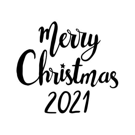 Merry Christmas hand drawn lettering. lettering - Merry Christmas 2021