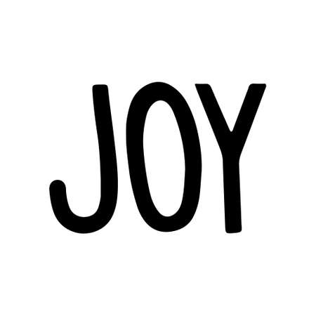 Hand Drawn Ink Lettering. Joy Hand drawn Lettering. Vector illustration isolated on white 일러스트