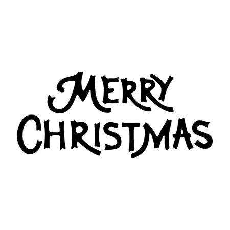 Hand drawn inscription to winter holiday. Merry christmas hand drawn lettering. lettering - Merry Christmas 일러스트
