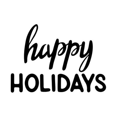 Hand Drawn Ink Lettering. Lettering Happy holidays. Happy Holiday - Hand Drawn Ink Lettering, Brush calligraphy 일러스트