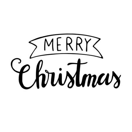 Christmas lettering set. Merry christmas hand drawn lettering. Merry christmas hand drawn lettering. Calligraphic and typographic design element. lettering - Merry Christmas 일러스트