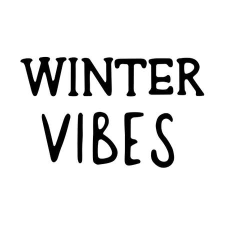 Hand drawn Christmas Lettering. lettering - winter vibes. Lettering for Happy holidays greeting card