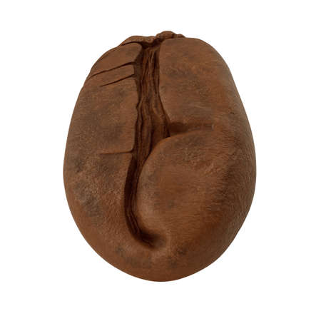 One coffee bean. 3D illustration