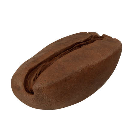 realistic 3d render of coffee bean