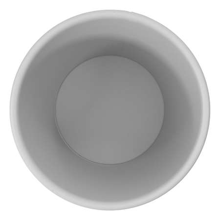 Empty paper cup, top view, 3d illustration