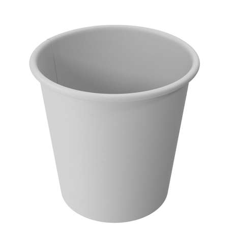 Realistic White Disposable Paper Cup. 3d illustration Фото со стока