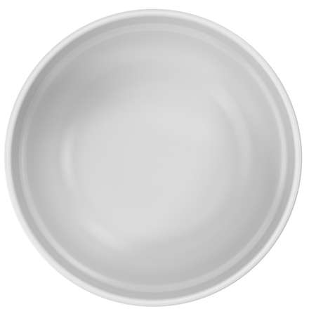 White empty plate isolated on white. 3D illustration