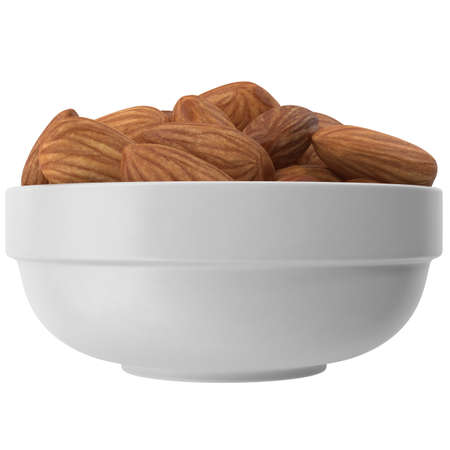 Dried Almonds In A Plate