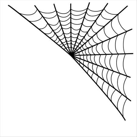 Halloween spider web isolated on white background.