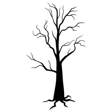 Abstract tree. tree in Halloween festival, scary tree silhouette. Halloween tree