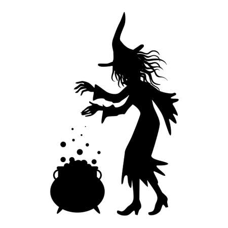 silhouette of a witch, halloween decor