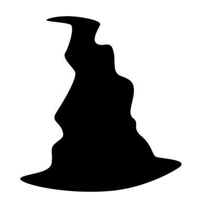 Black silhouette of witch hat