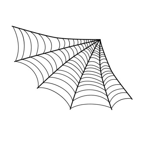 Spiderweb for Halloween design isolated on white background.