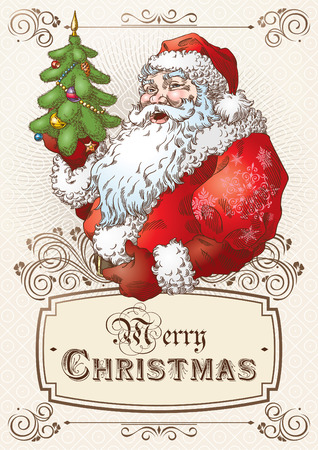 Christmas Postcard with Santa Claus 1