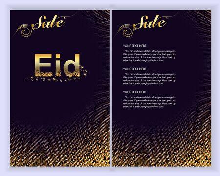 Eid Al Adha Mubarak the celebration of Muslim community. Eid Al Adha Mubarak greeting card.Vector illustration.