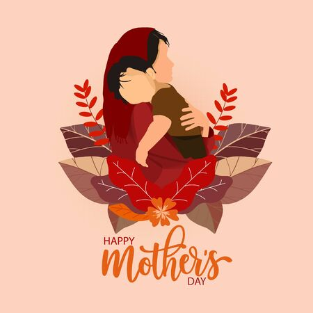 Happy Mother's day greeting card. The illustration can be used in the newsletter, brochures, postcards, tickets, advertisements, banners.