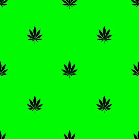 Texture cannabis seamless vector background, wallpaper  pattern.Vector illustration