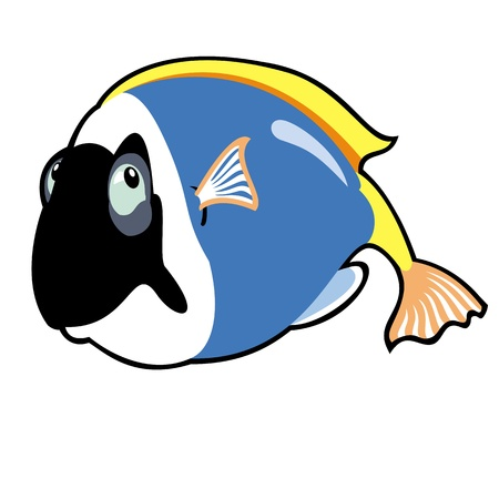 surgeon fish: pez tropical Vectores