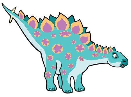 cartoon dinosaur stegosaurus,children illustration,vector picture isolated on white background,image for little kids
