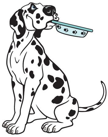 dog dalmatian breed,vector picture isolated on white background,cartoon image Çizim