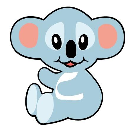 Cartoon koala, illustratie voor baby en klein kind, foto op wit wordt geïsoleerd backgrround Stockfoto - 17223674