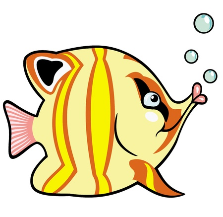aquarium fish,cartoon picture for babies and little kids,vector illustration Stock Vector - 17272626