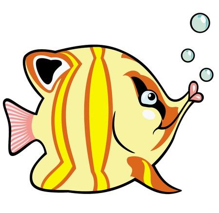 poisson aquarium: les poissons d'aquarium, image de dessin anim� pour les b�b�s et les petits enfants, illustration vectorielle Illustration