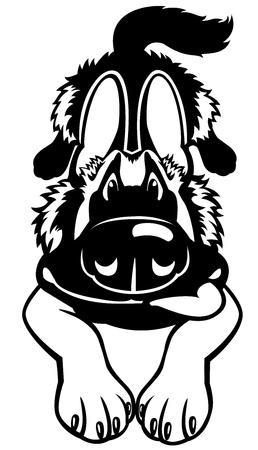 german shepherd breed Stock Vector - 17314801