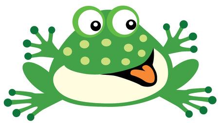 fondo para bebe: rana de la historieta para los beb�s y ni�os peque�os, la imagen aislada en el fondo blanco Vectores