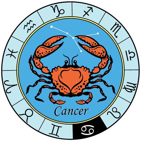 がん占星術星座、白い背景で隔離のイメージ