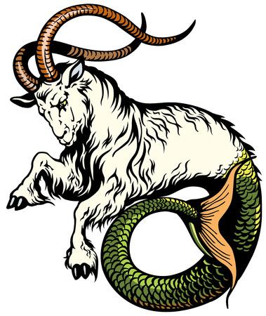 山羊座星座占星術  イラスト・ベクター素材