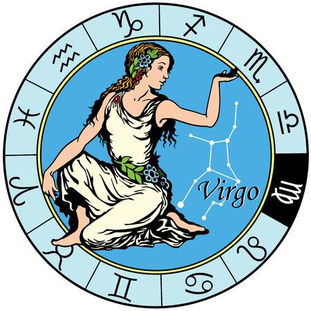 Virgo astrologico segno zodiacale Archivio Fotografico - 28465812